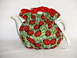 2 Cup Pretty Lady Bugs & Daisies Reversible Tea Pot Cozy