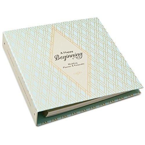 Hallmark A Happy Beginning Wedding Planner and Keepsake Album Scrapbooks Milestones (Wedding Binder Album)
