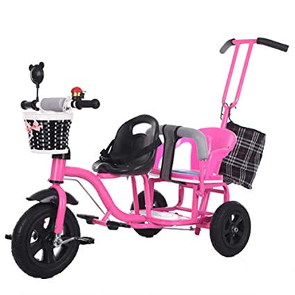 Amazon.com: YUMEIGE Kids Tricycles Kids Tricycle Double ...