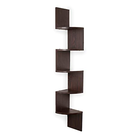 Fine Amazon Com 5 Piece Brown Wood Wall Mount Shelf Decorative Download Free Architecture Designs Ferenbritishbridgeorg