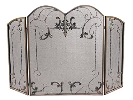Terrific Amazon Com Arched Three Fold Vintage Fireplace Screen Beutiful Home Inspiration Ommitmahrainfo