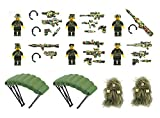 Magma Brick: Wild Soldiers with Tactical Vest, Camouflage Ghillie Suit, Parachutes, and Weapon Compatible with Lego