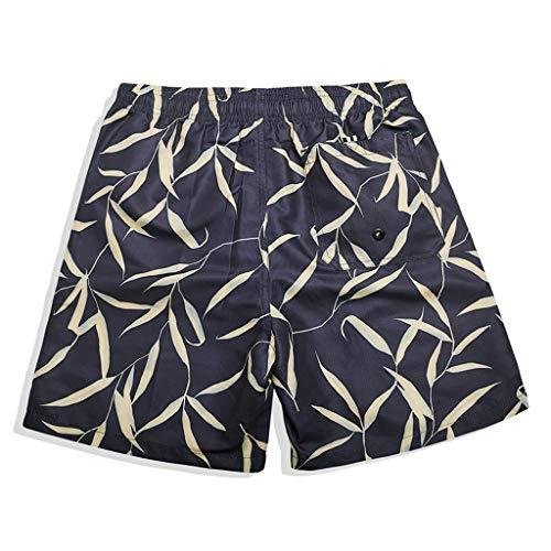 Pantaloni Veloce Stampa Spiaggia Casual Moda Asciutta Vacanza Estive Uomo Coulisse Corta Sport Nero Pantaloncini Amlaiworld WwBRqTSO
