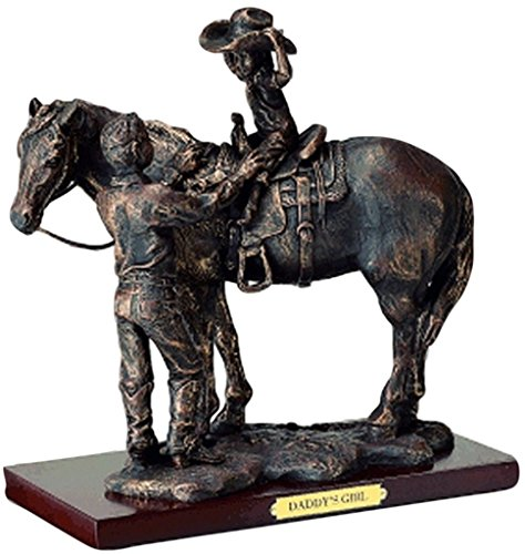 Western Moments Unisex Daddy's Girl Statue Brown One Size