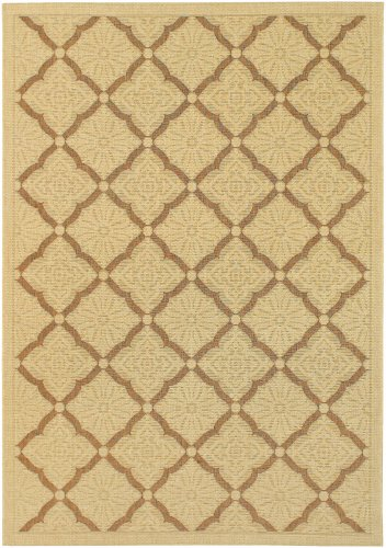 Couristan 3077/0019 Five Seasons Sorrento/Cream and Gold 7-Feet 10-Inch by 10-Feet 9-Inch Area Rug