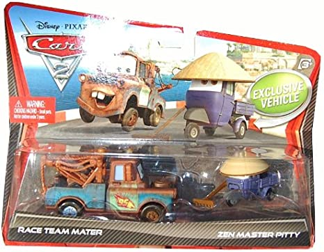 Disney Pixar Cars 2 Race Team Mater & Zen Master Pitty Die-Cast 2 ...