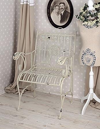 jardin blanc antique de Fauteuil style chic de shabby Chaise 2IH9ED