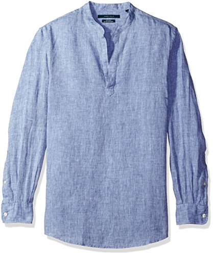 Perry Ellis Long Sleeve Solid Popover