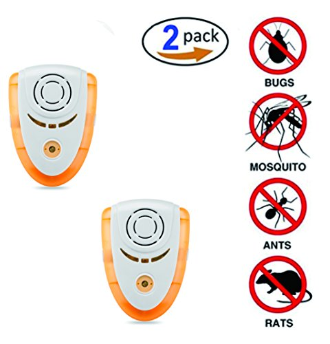 Szoon Ultrasonic Pest Repeller - Pest Control Spider Repellent 2 Pack - Electronic Plug In Bug Repellent for Insects - Repel Mice, Mosquitoes, Spiders, Bed bugs, Cockroaches, Fleas, Flies, Ants by Szoon
