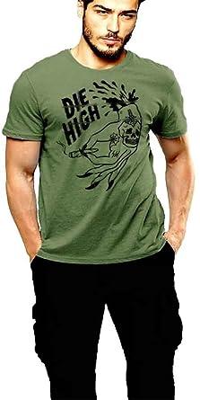 Stoner T-shirt Oldschool Retro Green Tee (Medium)