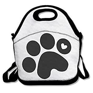 ScutLunb Lunch Bag Dog Paw Prints Lunch Tote Lunch Box For Women Men Kids With Adjustable Strap