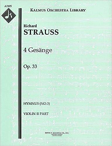 Livres audio italiens téléchargement gratuit 4 Gesänge, Op.33 (Hymnus (No.3)): Violin II part (Qty 7) [A3105] (French Edition) PDF B00UJ1P0PU