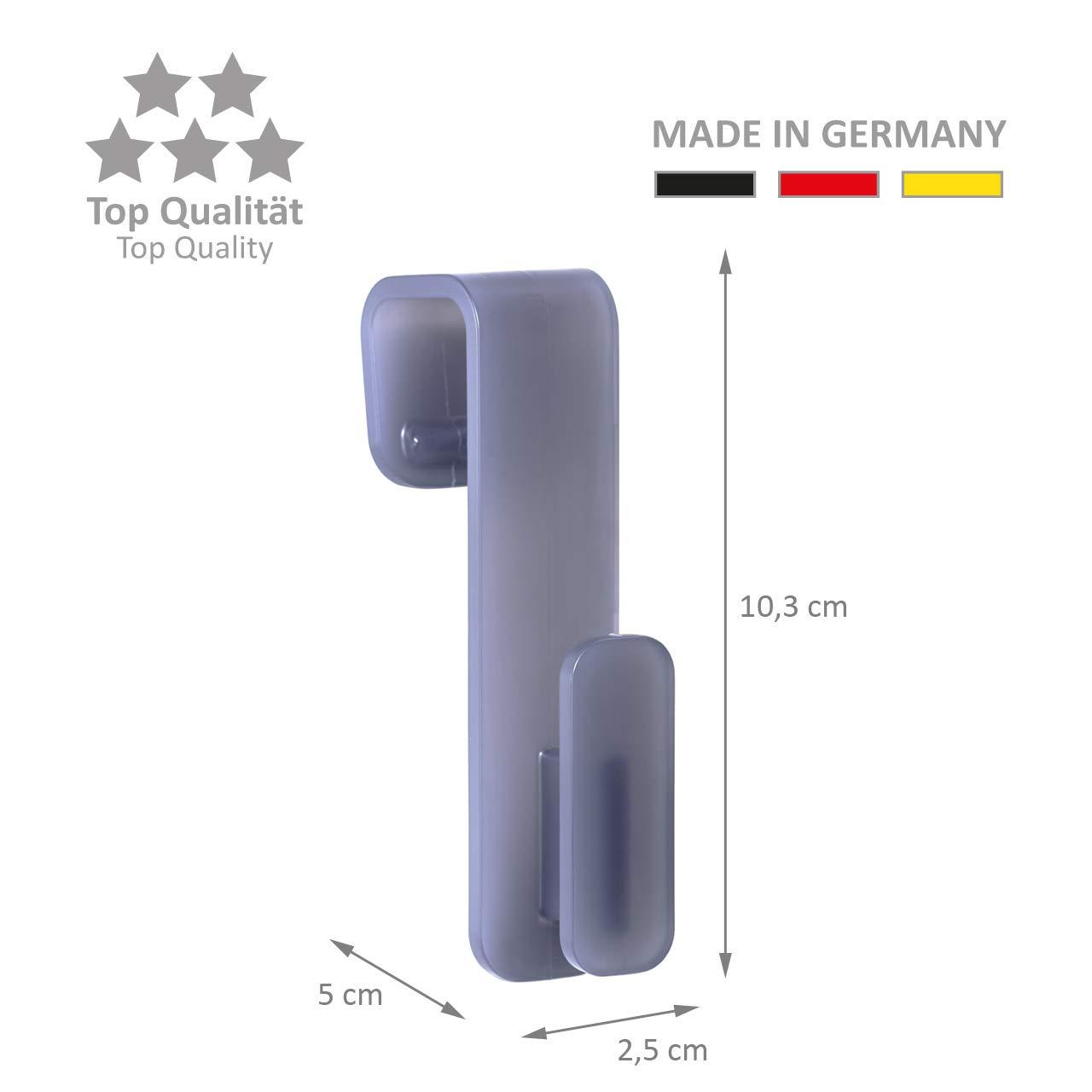 Made in Germany Ganci per termosifoni 6 Ganci per termosifoni Ganci per Asciugamano Ganci per Asciugamani qualit/à Top Wellgro Colore a Scelta