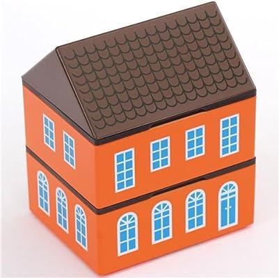 Prime Nakamura Caja bento Japonesa lacada en Forma de casa Naranja con Almohadilla de Gel refrigerante: Amazon.es: Hogar
