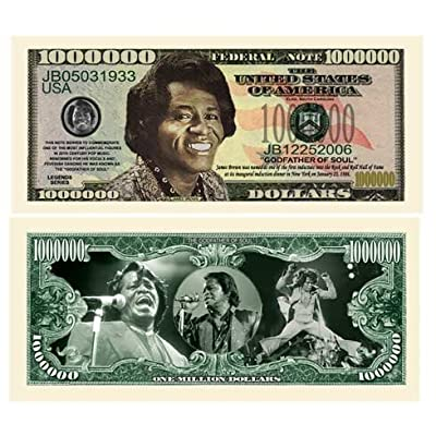 American Art Classics James Brown Million Dollar Bills - Pack of 5 - Best Gift for Fans of The Godfather of Soul: Toys & Games