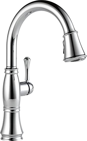 delta faucet. Delta Faucet 9197 DST Cassidy  Single Handle Pull Down Kitchen Chrome