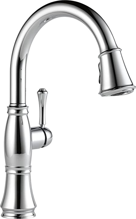 delta faucet 9197dst cassidy single handle pull down kitchen faucet chrome