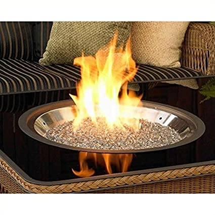 Stainless Steel Crystal Fire Burner Round - Amazon.com : Stainless Steel Crystal Fire Burner Round : Fire Pits