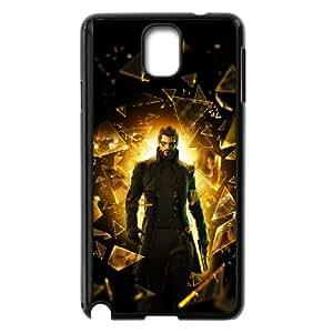 Deus Ex Human Revolution 12 funda Samsung Galaxy Note 3 caja funda del teléfono celular del teléfono celular negro cubierta de la caja funda EEECBCAAB09474