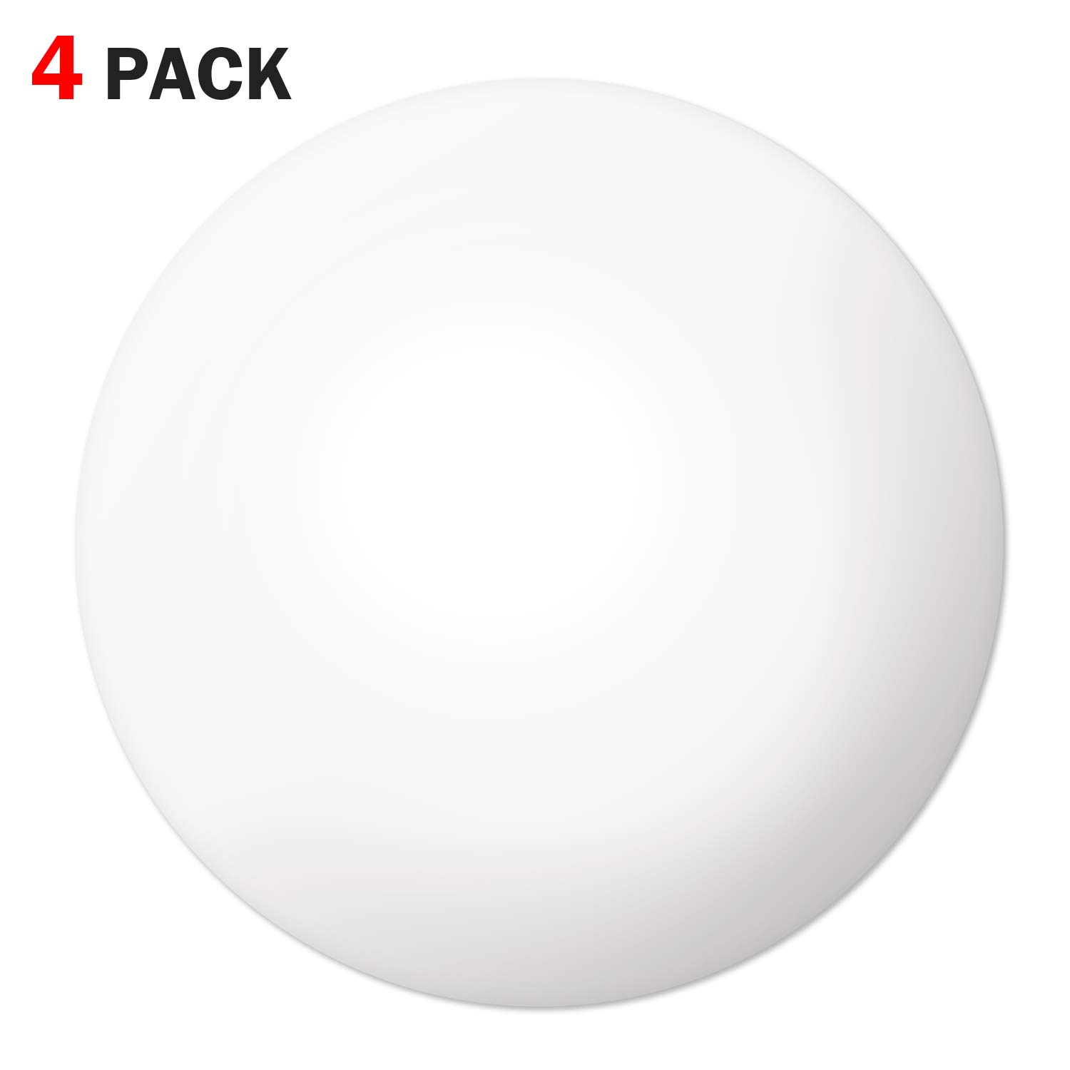 "Door Stopper Wall Protector (4 Pack), 3.15"" Door Stopper Bumper Door Knob Guard Silicon 3M Self Adhesive Prevent Damage to Wall, Doorknobs, Refrigerator Door, White"