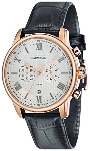 Thomas Earnshaw Mens The Longitude Watch - White/Black/Rose Gold