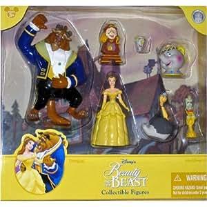 Disney Beauty (Belle) and the Beast Poseable Figurine Figure Set