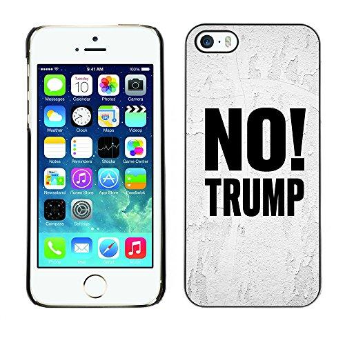 Print Motif Coque de protection Case Cover // Q04100500 Aucun Trump gris blanc // Apple iPhone 5 5S 5G
