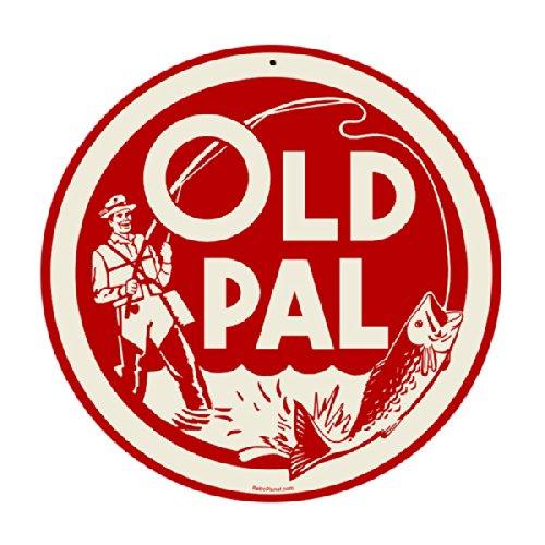 Old Pal Fishing Bait Round Metal Sign