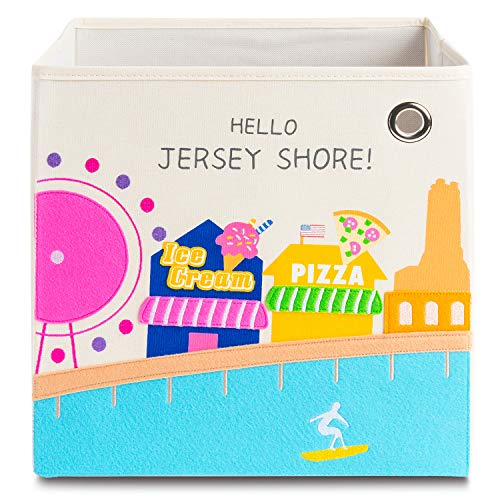 kaikai & ash Storage Bin, Canvas Fabric Toy Box Cube, Kids - Jersey ()