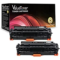 ValueToner Compatible Toner Cartridge Replacement for 312A 312X CF380A CF380X Toners Cartridge Compatible with ColorLaserJet Pro MFP M476dn M476dw M476nw Printer, 2 Black