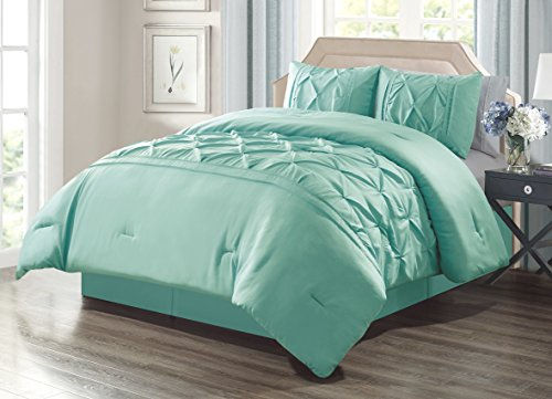 Grand Linen 2 Piece TWIN size Solid TURQUOISE