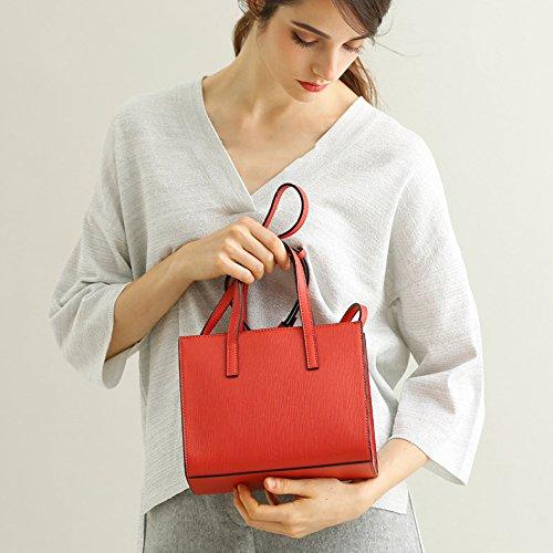 Real Black Red Blue Red Leather Bag Women's Shoulder Crossbody Bags Grey Handbag gwx1qaC7