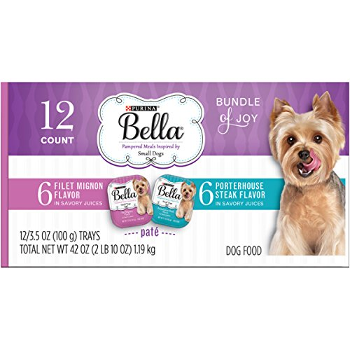Purina Bella Bundle of Joy with Filet Mignon & Porterhouse Steak Flavor in Savory Juices Variety Pack Dog Food - (12) 3.5 oz. (Bella Dog)