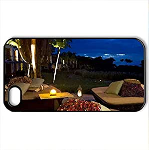 Romantic night... - Case Cover for iPhone 4 and 4s (Modern Series, Watercolor style, Black)