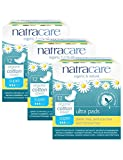 PACK OF 3 Natracare Organic Cotton Ultra Pad With Wings Sup