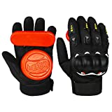 Andux Land Adult Longboard Downhill Slide Gloves Upgraded with 2 Slider Pucks HBST-05