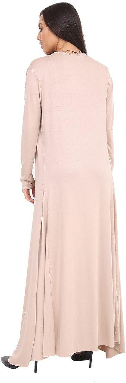 Elegant Vaps Ladies Long Floaty Maxi Cardigan Women Open Front Long Sleeves Plain Jacket Coat Cardigan Plus Sizes
