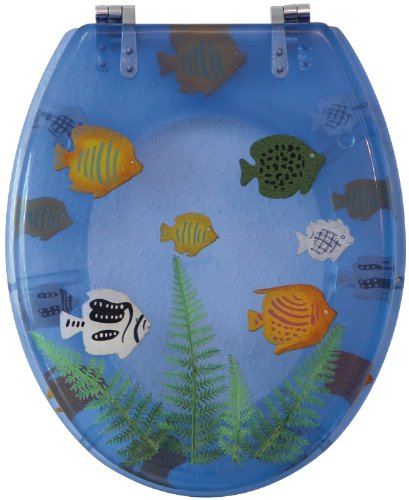Sanitop-Wingenroth Toilet Seat Décor Seaworld transparent Blue 40574 4