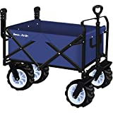 Cheap Folding Push Wagon Cart Collapsible Utility Camping Grocery Canvas Fabric Sturdy Portable Rolling Lightweight Beach Sand Buggies Outdoor Garden Sport Picnic Heavy Duty Shopping Cart Wagons With Wheels