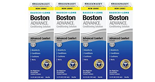 Permeable Contact (Bausch and Lomb Boston Advance STEP 2 Conditioning Solution for Hard Rigid Gas Permeable Contact Lenses 3.5 oz - Pack of 4)