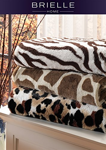Zebra Faux Fur Throw - 1
