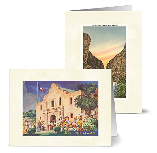 Vintage Texas - 36 Note Cards - 12 Designs - Blank Cards - Off-White Ivory Envelopes Included
