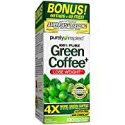 Reach your weight loss with Purely Inspired stimulant free Green Coffee. These easy to swallow gluten free capsules use the powerful ingredient C. canephora robusta in 400 mg doses supplying 45% chlorogenic acids so you can lose weight in combination...