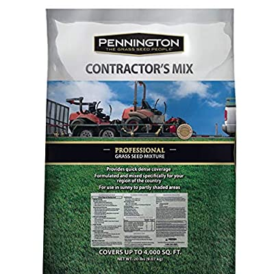 Pennington Professional Contractors Mix Central Powder Coated Grass Seed : Garden & Outdoor