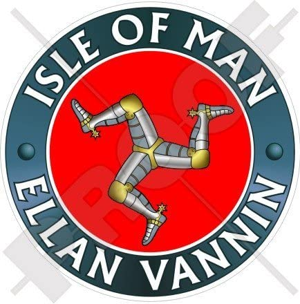 Isle Of Man Vannin Schiff Tt Racing Uk 100 Mm 10 2 Cm Vinyl Bumper Aufkleber Aufkleber Garten