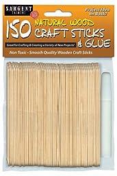 Sargent Art 35-1436 150 -Count Natural Craft Wood Sticks with Glue