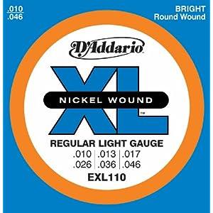 D'Addario EXL110 Saitensatz für E-Gitarre 0,03 cm - 0,12 cm (.010 - .046 Zoll)