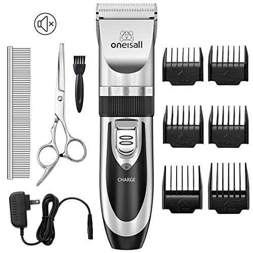 oneisall Dog Shaver Cllippers Low Noise Rechargeable Cordless Electric Queit Hair Clippers Set for Dog Cat from oneisall