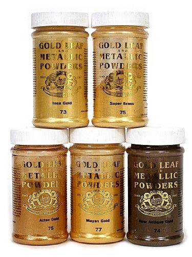 Gold Leaf & Metallic Co. Metallic and Mica Powders extra brilliant rich gold 2 oz.