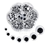 MOMA New 700Pcs/Box 7 Sizes DIY Round Self-adhesive Wiggly Googly Eyes For Doll Toy -Y102 HIGHT QUALITY